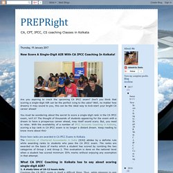 PREPRight: Now Score A Single-Digit AIR With CA IPCC Coaching In Kolkata!