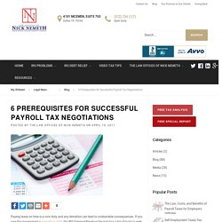 6 Prerequisites for Successful Payroll Tax Negotiations