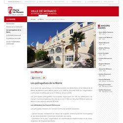 Les prérogatives de la Mairie - Mairie de Monaco - Site officiel de la Mairie de Monaco