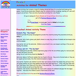 Preschool Activities for Animal Themes