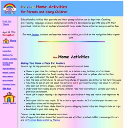 Preschool Home Activities for Parents and Young Children