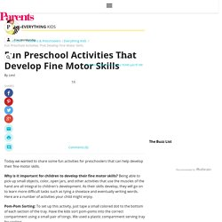 Fun Preschool Activities That Develop Fine Motor Skills