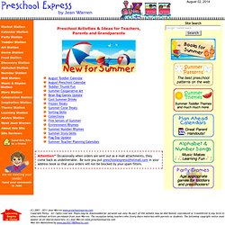 Preschool Express by Jean Warren: preschool activities, games, songs, crafts, art, music, learning, skills, stories and patterns