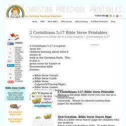 Preschool Bible Verse Cards