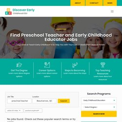 Jobs for Preschool and Early Childhood Education Teachers