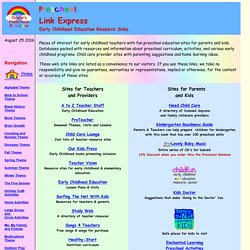 Preschool Link Express - Early Childhood Education Resource Sites