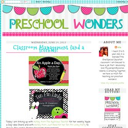 Classroom Management {and a freebie}!