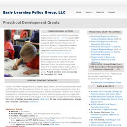 Preschool Development Grants
