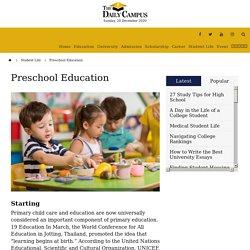 Preschool Education - The Daily Campus