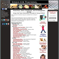 Preschool, Early Childhood, and Kindergarten Songs