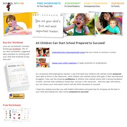 Preschool and Kindergarten Readiness - School Sparks