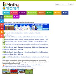 Fun Math Games for Preschool, Kindergarten, 1st to 6th Grade Maths Practice