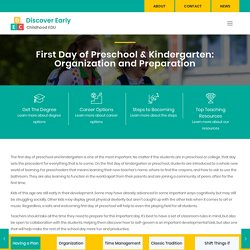 How to Organize & Prepare for the First Day of Preschool or Kindergarten