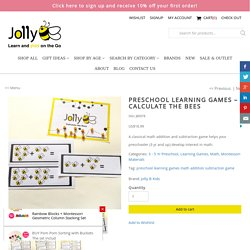 Preschool Learning Games - Calculate the Bees - Jolly B Kids