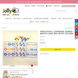 Preschool Learning Games - Match and Mix with Colors - Jolly B Kids