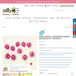 Preschool Learning Game - Dragonfly Counts - Jolly B Kids