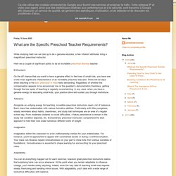 What are the Specific Preschool Teacher Requirements?