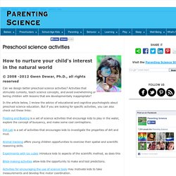 Preschool science activities