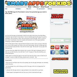 Top 100 FREE Apps for Kids