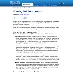 Cooking With Preschoolers (for Parents) - Nemours KidsHealth