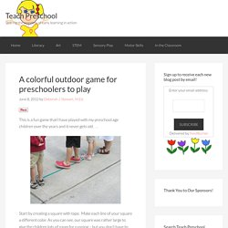 A colorful outdoor game for preschoolers to play