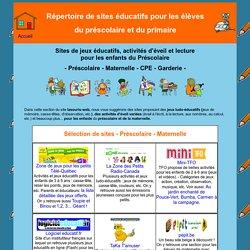 Sites éducatifs pour le préscolaire - Maternelle