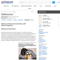 Naltrexone - FDA prescribing information, side effects and uses