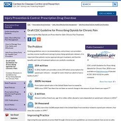 Draft CDC Guideline for Prescribing Opioids for Chronic Pain