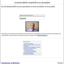 Droit notarial pearltrees - Prescription acquisitive immobiliere ...
