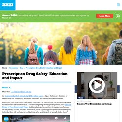 Prescription Drug Safety: Education and Impact