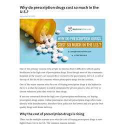 Why do prescription drugs cost so much in the U.S.?