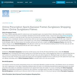 Online Prescription Sports Eyewear Frames Sunglasses Shopping Store
