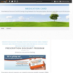 Prescription Discount Program - Medication Card