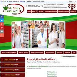 Prescription Medications at St. Mary Pharmacy in Palm Harbor, Florida