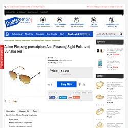 Adine Pleasing prescription And Pleasing Sight Polarized Sunglasses
