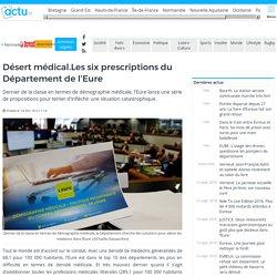 Eure . Désert médical : les six prescriptions du Département