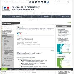 Obligations et Prescriptions techniques - Ministère de l'Environnement, de l'Energie et de la Mer
