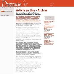 Revue Prescrire, Les antalgiques opiacés faibles, juillet 2003