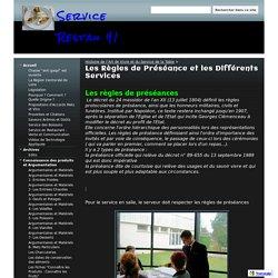 Les Règles de Préséance et les Différents Services - Service Restau 41