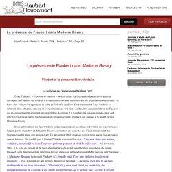 La présence de Flaubert dans Madame Bovary