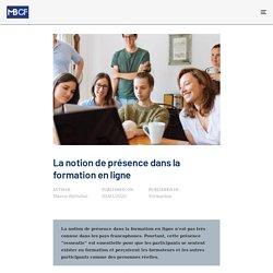 La notion de présence dans la formation en ligne - Marco Bertolini - Conseil et Formation