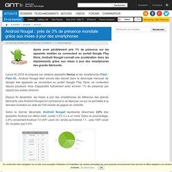 Android Nougat : près de 3% de présence mondiale grâce aux mises à jour des smartphones