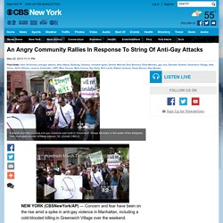 Wave Of Anti-Gay Attacks in NYC