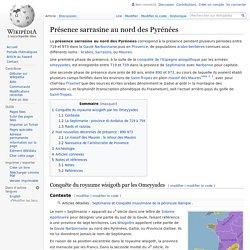 Présence sarrasine au nord des Pyrénées
