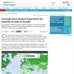 Un mapa para conocer la presencia de Internet en todo el mundo