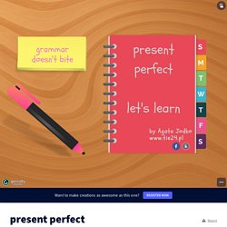 present perfect by agata116 on Genially