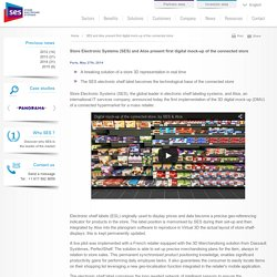 SES and Atos present first digital mock-up of the connected store