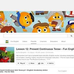 Present Continuous Tense - cartoons