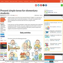 Present simple tense for elementary students