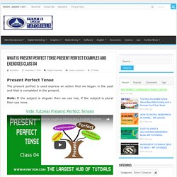 Present Perfect Tense Examples & Exercises Lesson 4 – English grammar